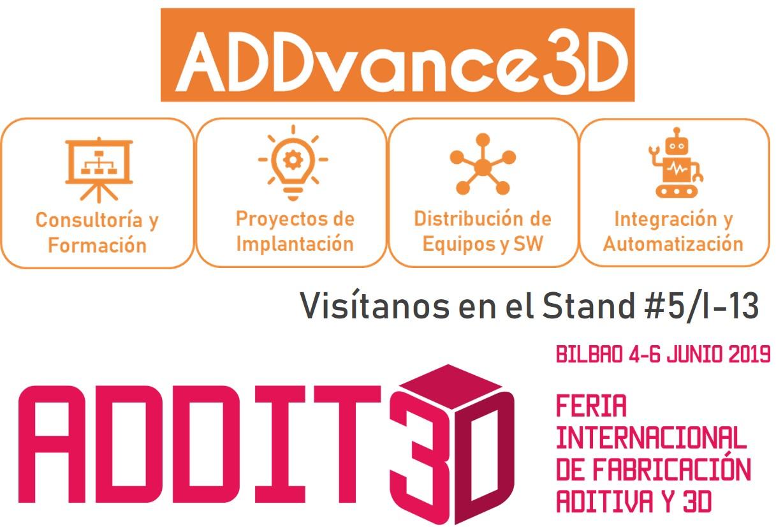 ADDvance, presente por primera vez en la feria ADDIT3D