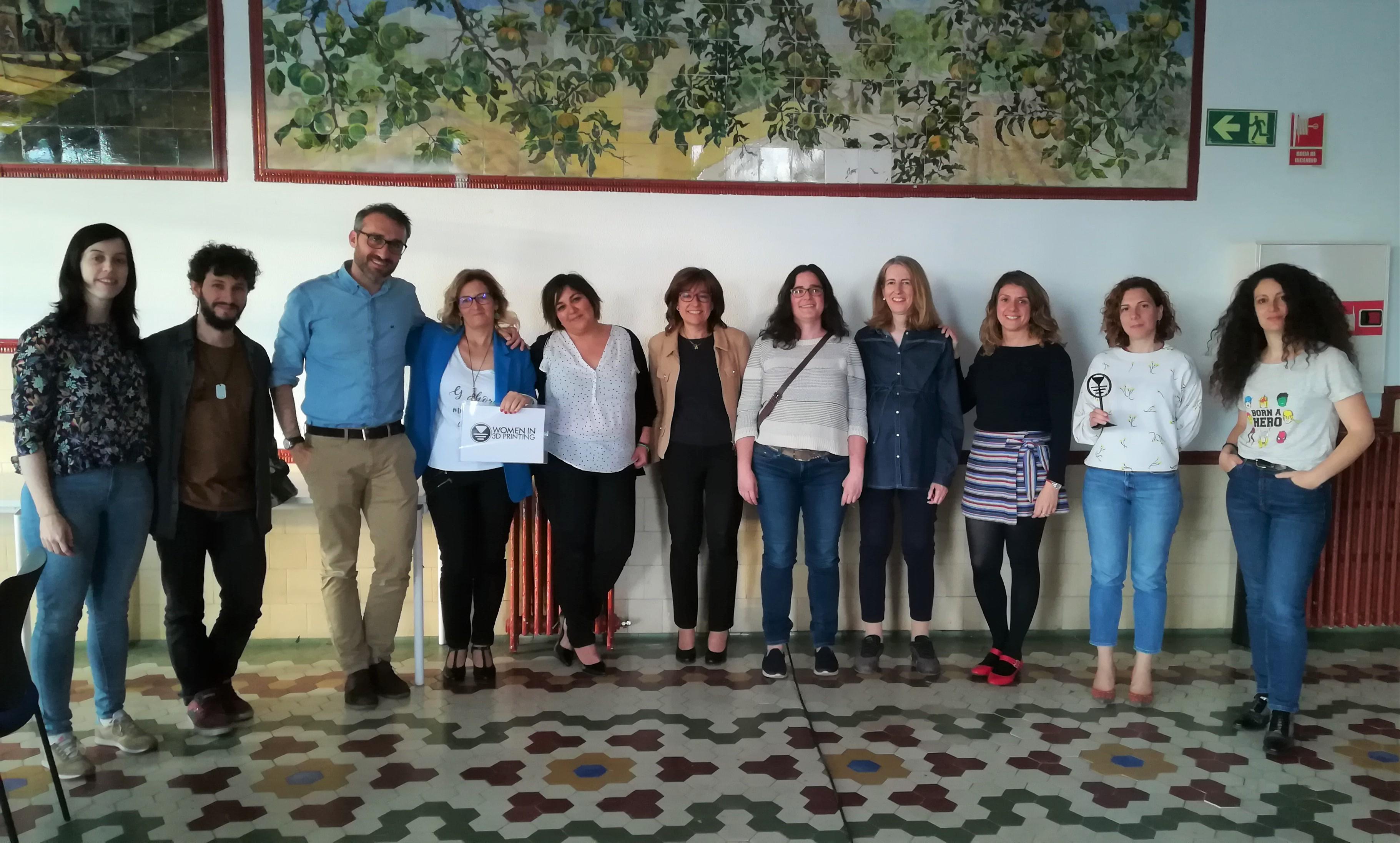 Reunión del grupo de Womenin3DPrinting en Madrid